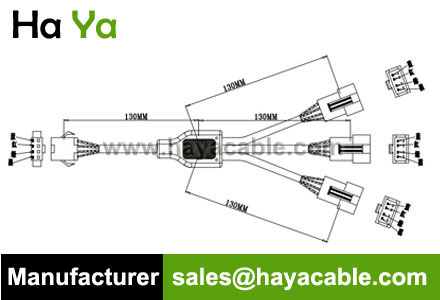 SM 4 PIN 3 Way Splitter Cable