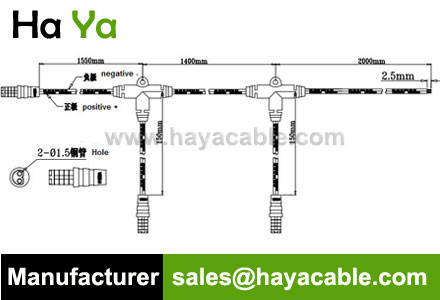 Waterproof 2 PIN Cable Multiple T Connection Cable