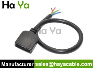 4-Pin Female Cable For RGB LED Strip