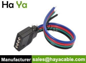 Flexible LED Strip 4 PIN Female Cable with Rainbow Wire