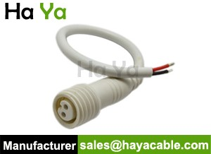 IP67 Waterproof 2 PIN Female Power Cable