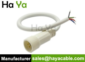 IP67 Waterproof 4 PIN Male Power Cable