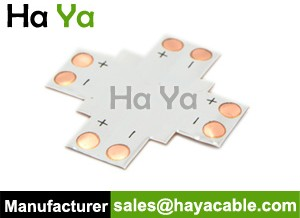 8mm Flexible Light Strip Connector-X type