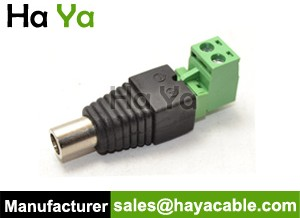 DC Female Jack Connector With Removable Terminal Block