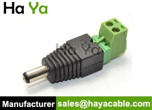 DC Male Plug Connector With Removable Terminal Block