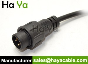 IP68 Waterproof 4 PIN Female Power Cable