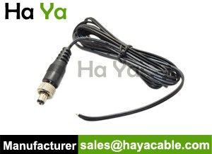 DC Power Cable with Locking Plug